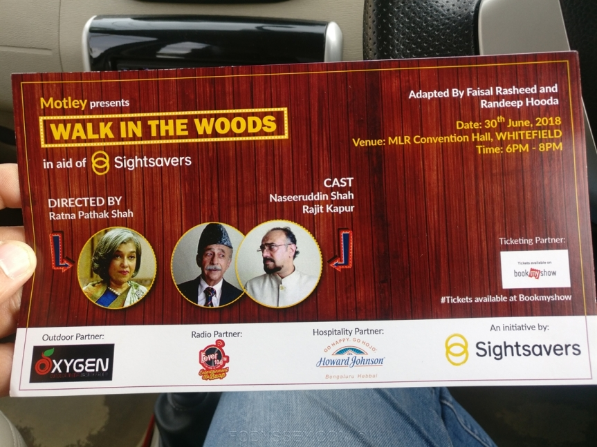 Walk In The Woods – A Play Starring Naseeruddin Shah & Rajit Kapur